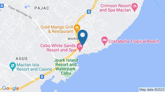 Bluewater Maribago Beach Resort Map