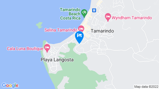 Tamarindo Blue Apartments Map