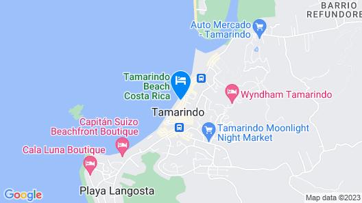Hotel Tamarindo Diria Beach Resort Map