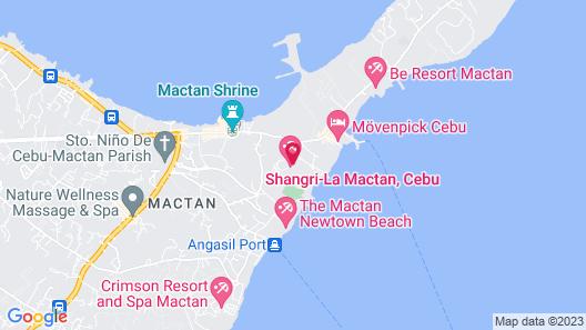 Shangri-La's Mactan Resort & Spa Map