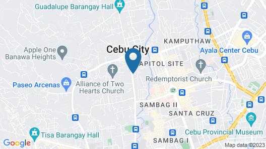 GardenPod Hostel + Café Map