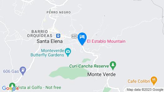 Dreams Lodge Monteverde Map