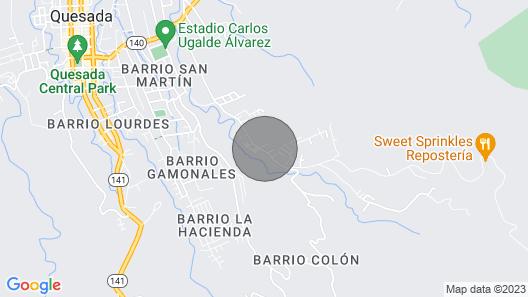 Animari Cabin of San Gerardo Map