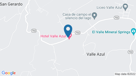 Hotel Valle Azul Map