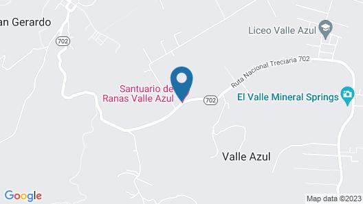 Santuario de Ranas Valle Azul Map