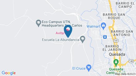 Avita Lodge Hotel de Montaña Map