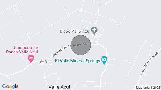 Lodge Casa Valle Azul Map