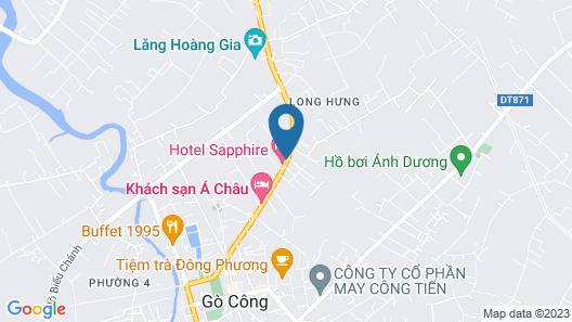 Hotel Sapphire Map