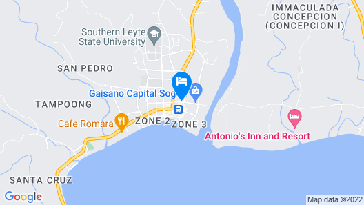 GV Hotel Sogod Map