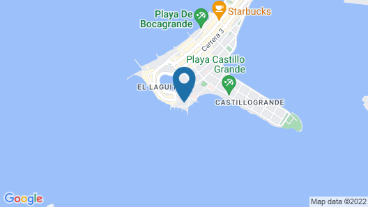 Apto Cartagena Sunset Map