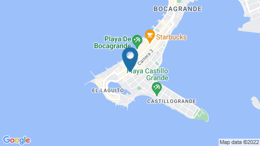 ZiOne Luxury Hotel Cartagena Map