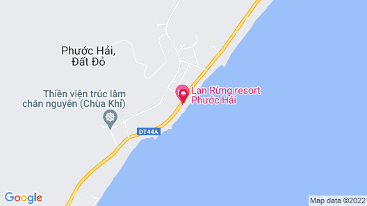 Lan Rung Resort & Spa - Phuoc Hai Beach Map