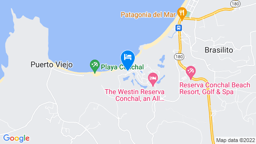 Ocean View Luxury Condo at Reserva Conchal A1 Map