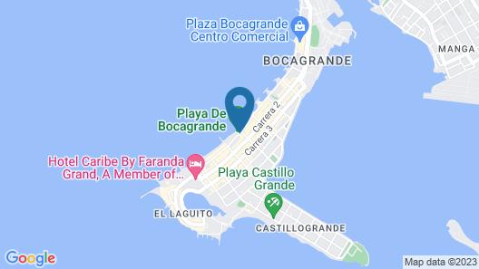 Hotel Cartagena Plaza Map