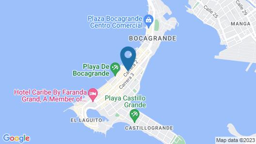 Hampton By Hilton Cartagena Map