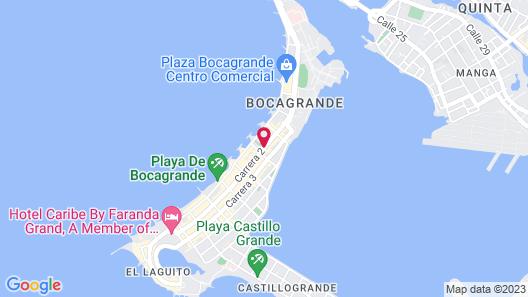 Holiday Inn Express Cartagena Bocagrande Map