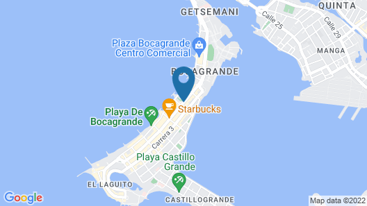 Holiday Inn Express Cartagena Bocagrande Map