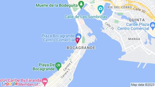 Estelar Cartagena de Indias Hotel Map