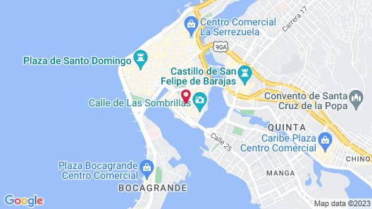 Hotel Capellan de Getsemani Map