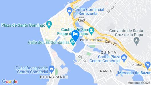 Santuario Hostel Cartagena Map