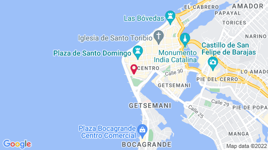Charleston Santa Teresa Cartagena Map