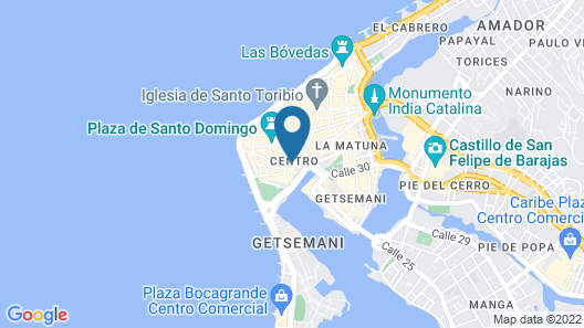Movich Hotel Cartagena de Indias Map