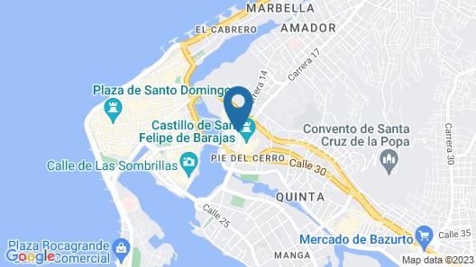San Lazaro Art Hotel Map