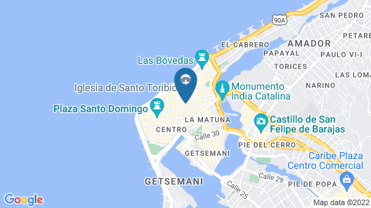 Hotel Boutique Santo Toribio Map