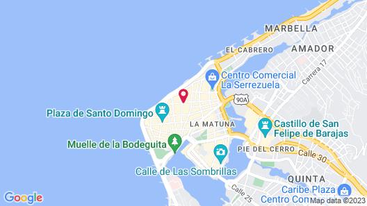 Nacar Hotel Cartagena, Curio Collection by Hilton Map
