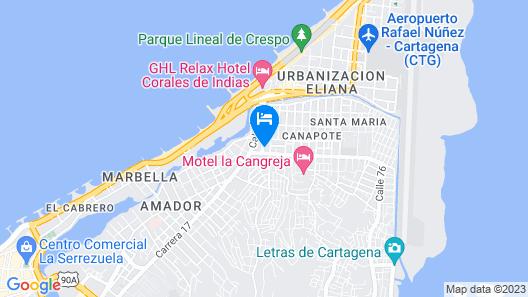 Posada El Alcatraz Map