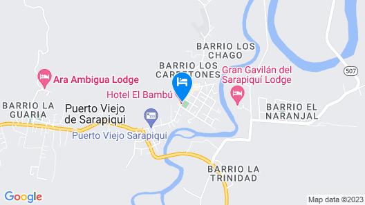 Hotel El Bambú Map
