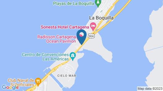 Radisson Hotel Cartagena Ocean Pavillion Map