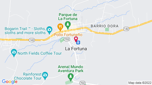 Arenal Backpackers Resort Map