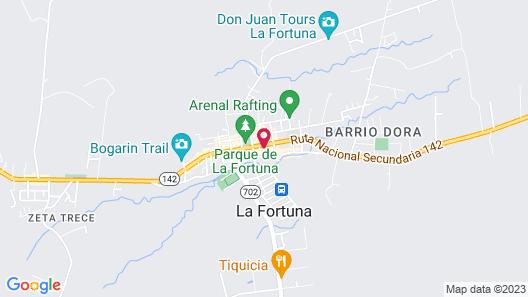 Hotel La Fortuna Map
