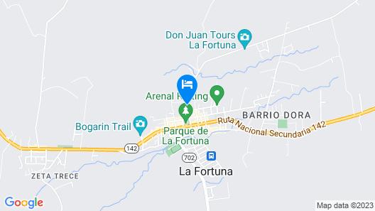 Hotel Arenal Rabfer Map