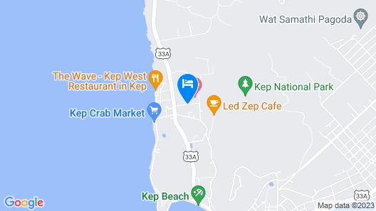 Le Kep Bungalows Map