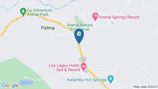 Arenal Volcano Inn Map