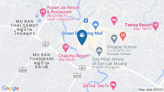 A-Te Chumphon Hotel Map