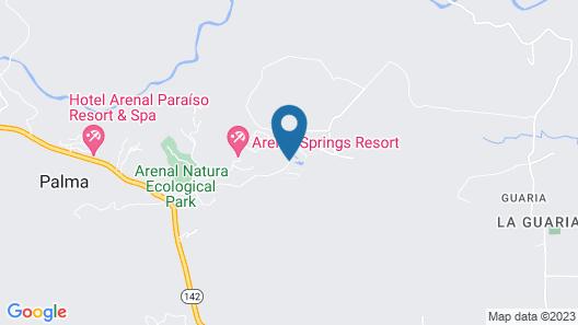 Arenal Manoa & Hot Springs Resort Map