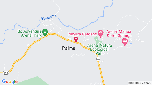 Arenal Paraíso Resort & Thermo Mineral Hot Springs Map
