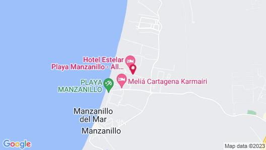 Hotel Estelar Playa Manzanillo  Map