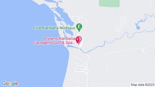 Conrad Cartagena by Hilton Map