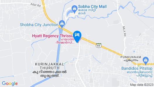 Hyatt Regency Thrissur Map