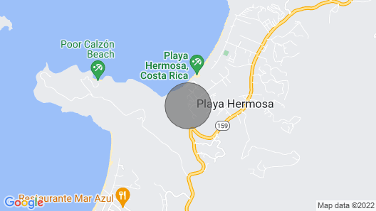 Pleasing Ocean Views of Playa Hermosa and Mountain View of the Cacique Peninsula Map