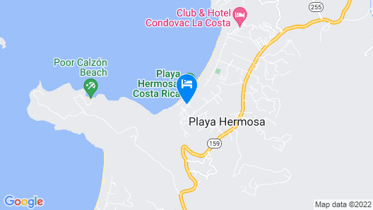 Hotel Bosque del Mar, Playa Hermosa Map
