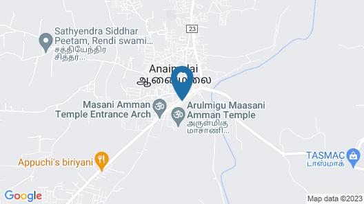 Royal Cottage, Anaimalai Map