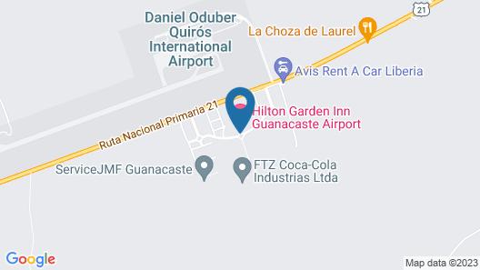 Hilton Garden Inn Liberia Airport Map