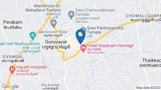 KTDC Nandanam Guruvayoor Map