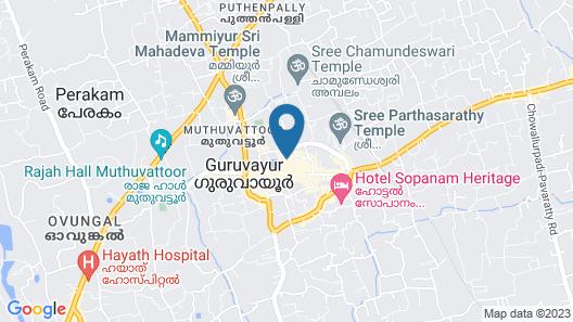 Vishnu Inn Guruvayoor Map