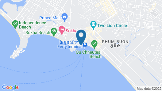 Tranquility Bungalows Bar & Restaurant Map